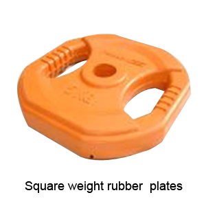 Square Rubber Coated Weight Plates