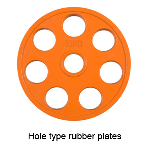 7 Hole Type Rubber Plates